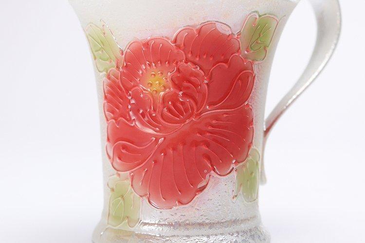 ☆文山窯 赤牡丹パールラスター 流転マグカップ 画像サブ4