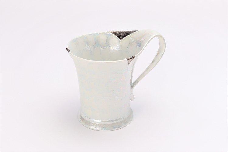 楽々シリーズ ラスターシルバー 流転マグカップ (化粧箱入り) 画像メイン
