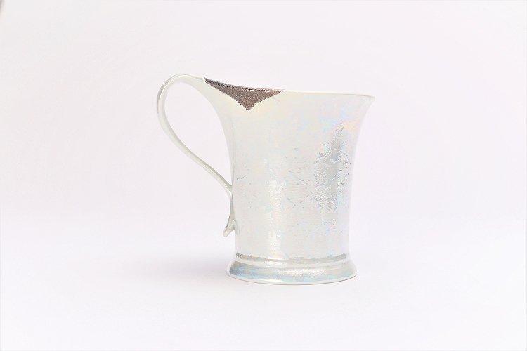 ☆楽々シリーズ ラスターシルバー 流転マグカップ (化粧箱入り) 画像サブ2