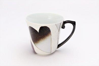 田清窯 バレンタイン黒 マグカップ