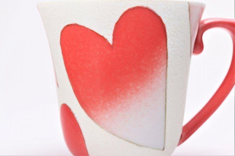 田清窯 バレンタイン赤 マグカップ 画像サブ4