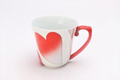 田清窯 バレンタイン赤 マグカップ