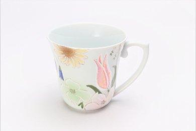田清窯 四季花虹彩 マグカップ