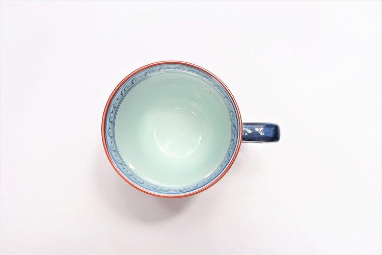 ☆洸琳窯 染錦鉄仙花 マグカップ(赤) 画像サブ5