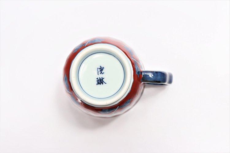 ☆洸琳窯 染錦鉄仙花 マグカップ(赤) 画像サブ6