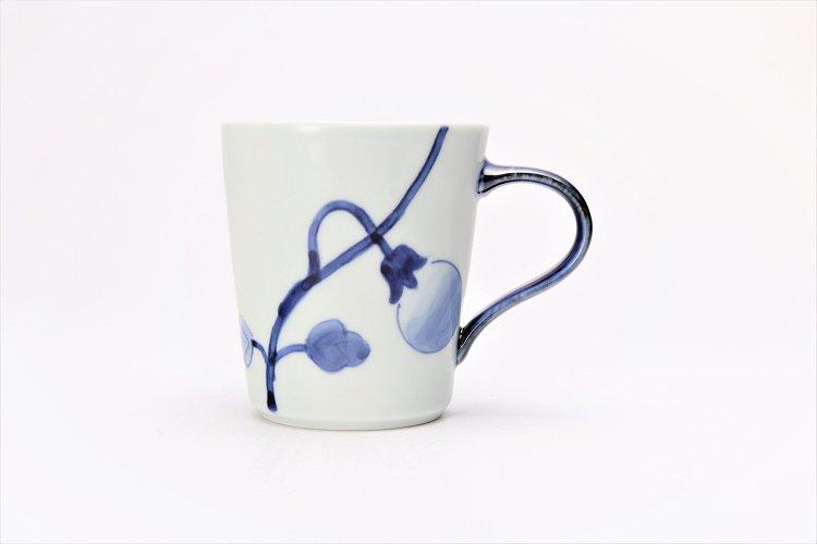 皓洋窯 染付なすび(青) 立マグカップ  画像サブ1