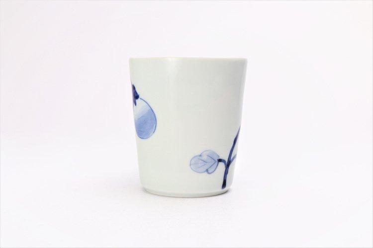 皓洋窯 染付なすび(青) 立マグカップ  画像サブ2