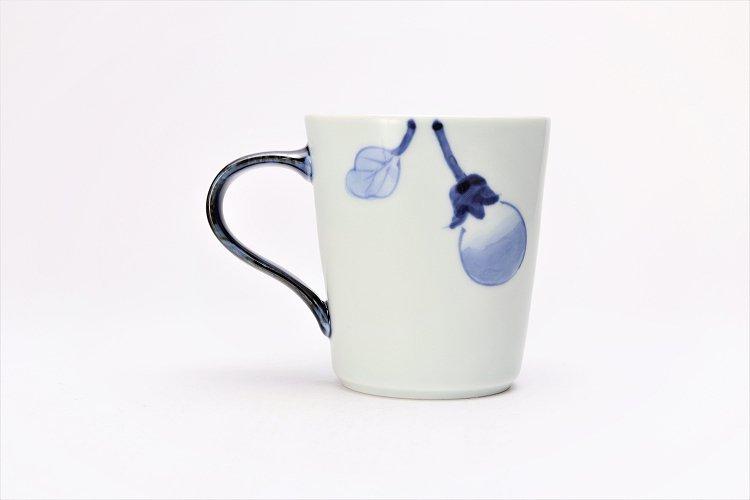 皓洋窯 染付なすび(青) 立マグカップ  画像サブ3