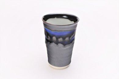 ★杏土窯 銀彩ブルー 特大フリーカップ 在庫9個