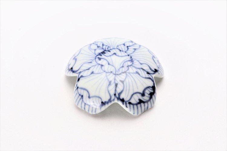 〇楽々シリーズ 染付花弁紋 桜型排水口カバー 画像メイン