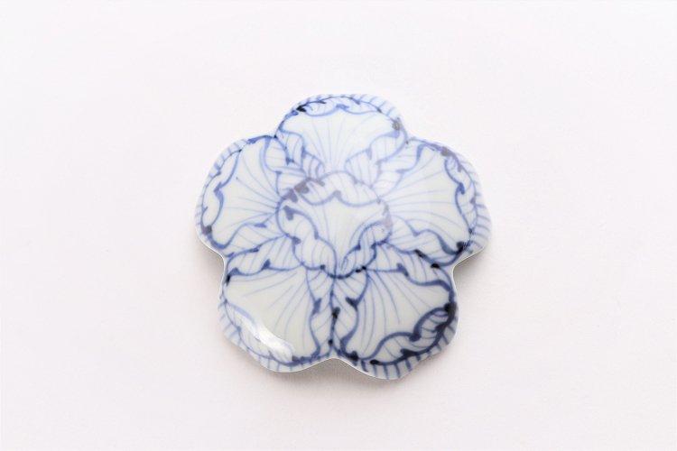 〇楽々シリーズ 染付花弁紋 桜型排水口カバー 画像サブ2