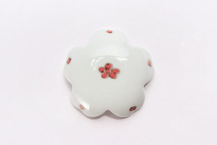 〇楽々シリーズ 染付赤小花紋 桜型排水口カバー 画像サブ2