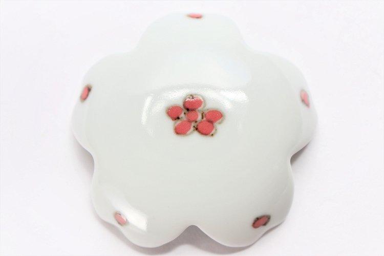 〇楽々シリーズ 染付赤小花紋 桜型排水口カバー 画像サブ3