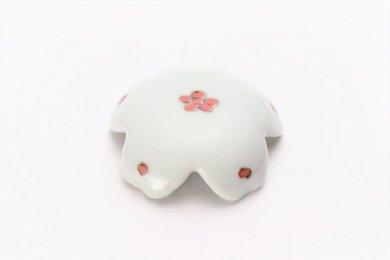 楽々シリーズ 染付赤小花紋 桜型排水口カバー