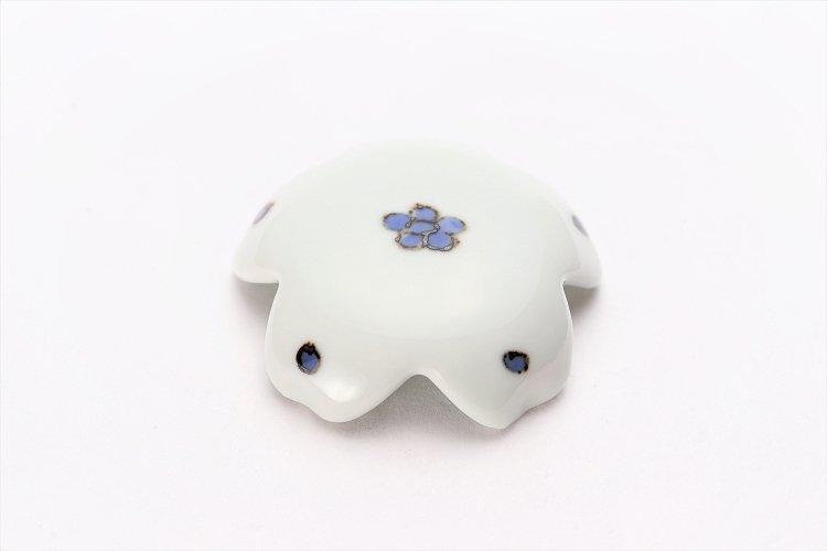 〇楽々シリーズ 染付小花紋 桜型排水口カバー 画像メイン