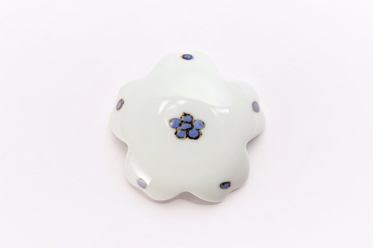楽々シリーズ 染付小花紋 桜型排水口カバー 画像サブ2