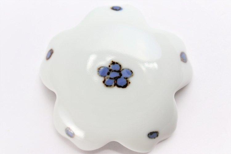 〇楽々シリーズ 染付小花紋 桜型排水口カバー 画像サブ3