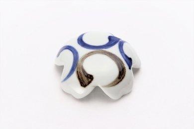 楽々シリーズ 染付二色丸紋 桜型排水口カバー