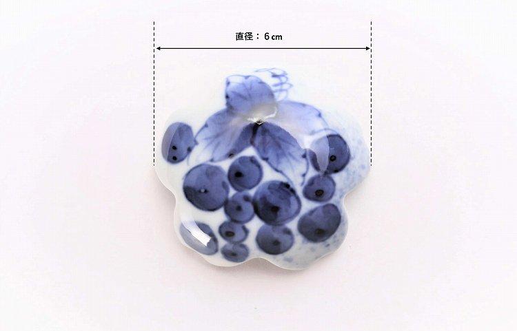 〇楽々シリーズ 染付和ぶどう 桜型排水口カバー 画像サブ4