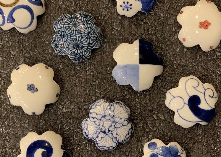 〇楽々シリーズ 染付和ぶどう 桜型排水口カバー 画像サブ7