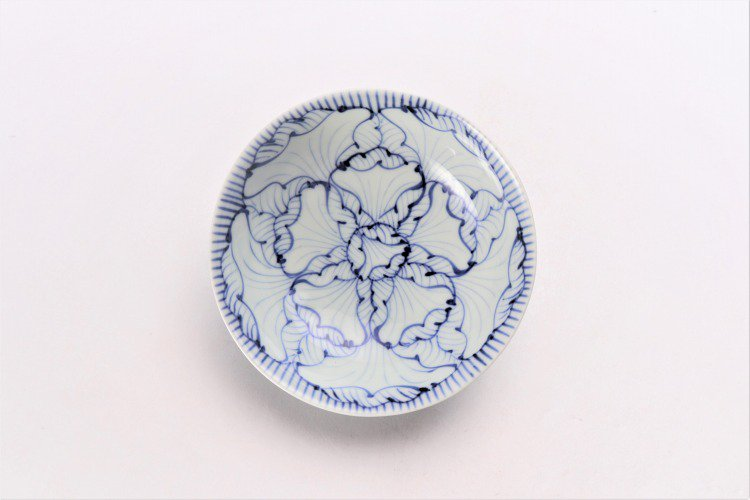 そうた窯 染付花弁紋 4寸小鉢 画像サブ2