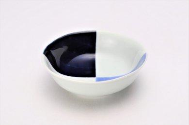 そうた窯 染付和市松 4寸小鉢