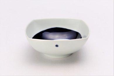 そうた窯 染付渦紋 正角浅鉢