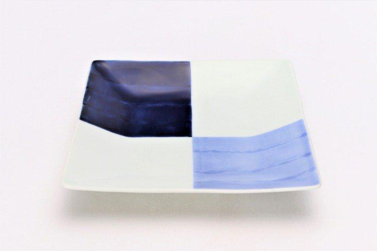☆そうた窯 染付和市松 正角皿 画像メイン