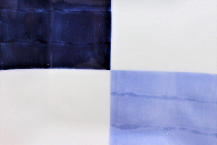 ☆そうた窯 染付和市松 正角皿 画像サブ3