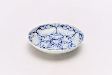 ☆そうた窯 染付花弁紋 3.5寸多用皿