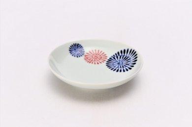 ☆そうた窯 染付色蛸つなぎ 3.5寸多用皿
