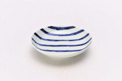 ☆そうた窯 染付濃十草 3.5寸多用皿