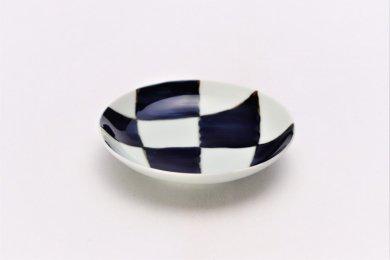 ☆そうた窯 染付幾何濃紋 3.5寸多用皿