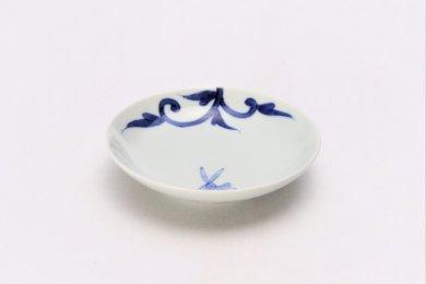 ☆そうた窯 染付兎唐草 3.5寸多用皿