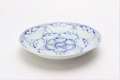 ☆そうた窯 染付花弁紋 6.5寸深皿