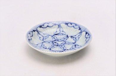☆そうた窯 染付花弁紋 3.5寸深皿