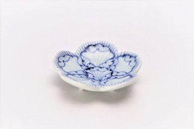 ☆そうた窯 染付花弁紋 花型箸置き