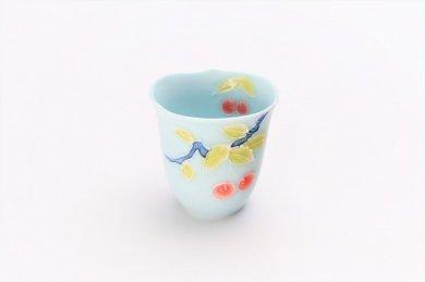 ☆文山製陶 青磁果実輪花 ミニカップ