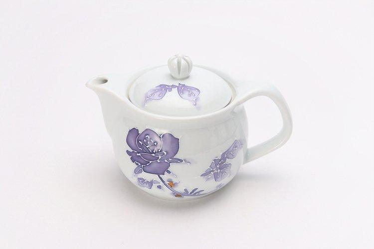 バラ(紫) つまみ菊割ポット(大) 在庫3個 画像メイン