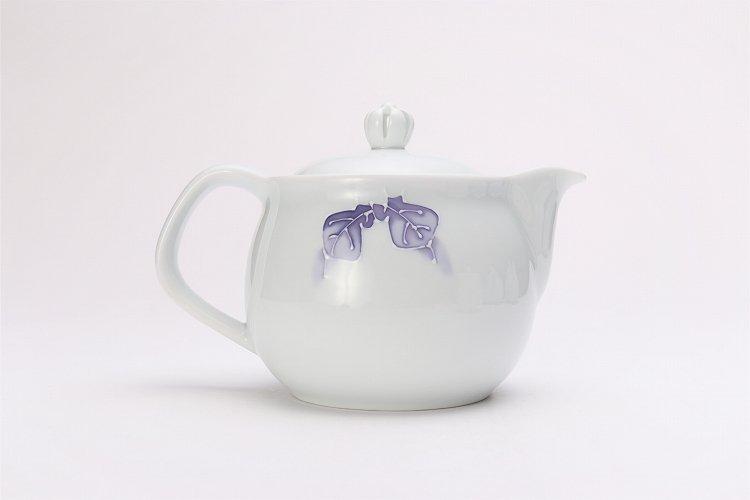 バラ(紫) つまみ菊割ポット(大) 在庫3個 画像サブ2