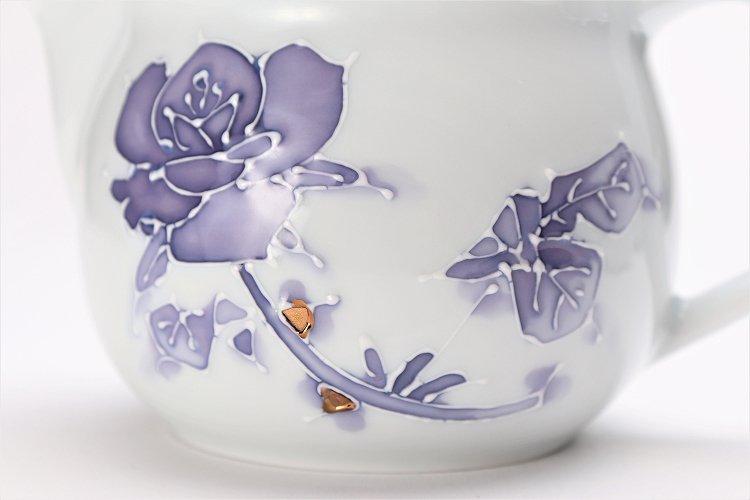 バラ(紫) つまみ菊割ポット(大) 在庫3個 画像サブ3