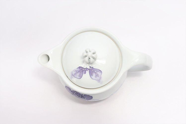 バラ(紫) つまみ菊割ポット(大) 在庫3個 画像サブ5