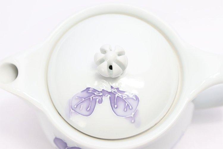 バラ(紫) つまみ菊割ポット(大) 在庫3個 画像サブ6