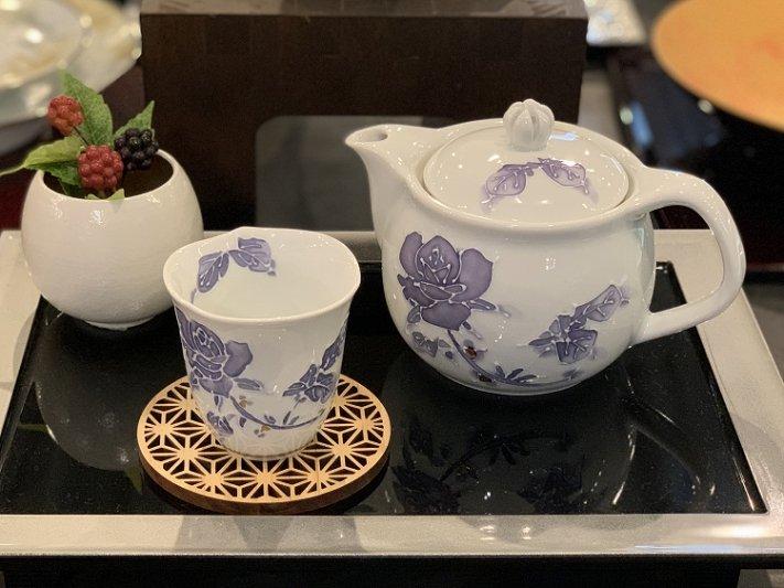 バラ(紫) つまみ菊割ポット(大) 在庫3個 画像サブ9
