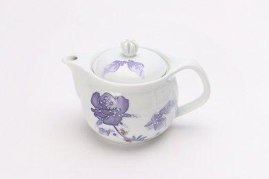 バラ(紫) つまみ菊割ポット(大)