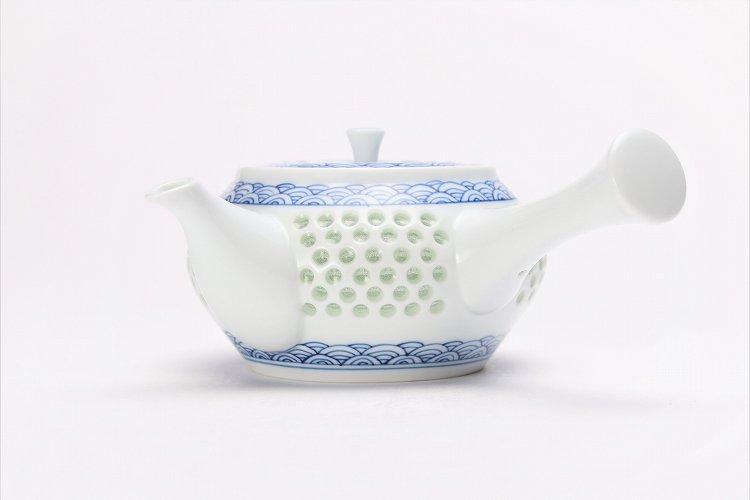 水晶青海波 茶器セット 画像サブ11