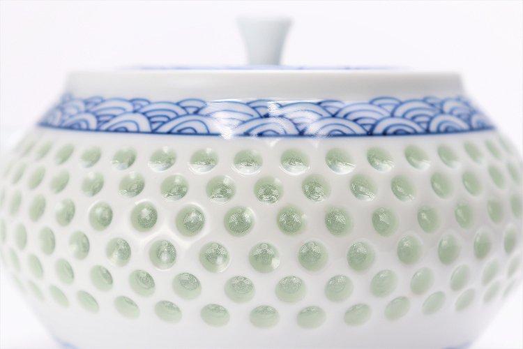 水晶青海波 茶器セット 画像サブ14
