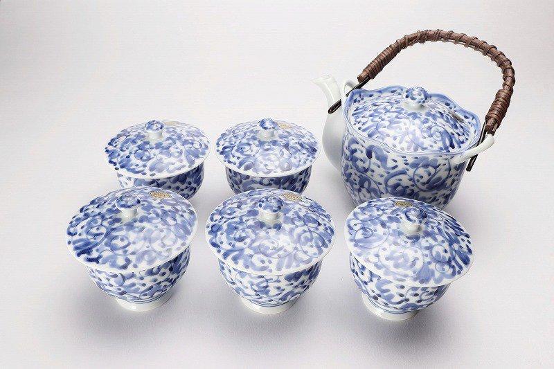 淡彩唐草 茶器セット 画像メイン