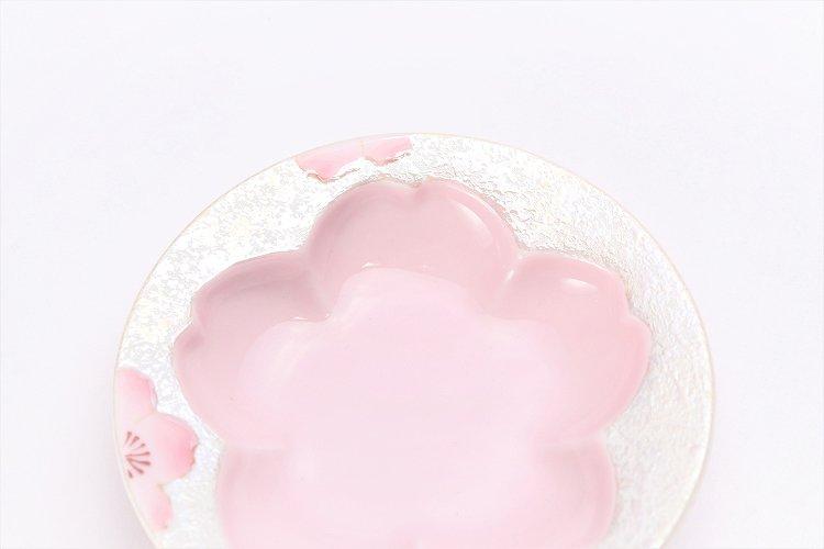 田清窯 薄ピンク釉虹彩桜 茶器セット 画像サブ12