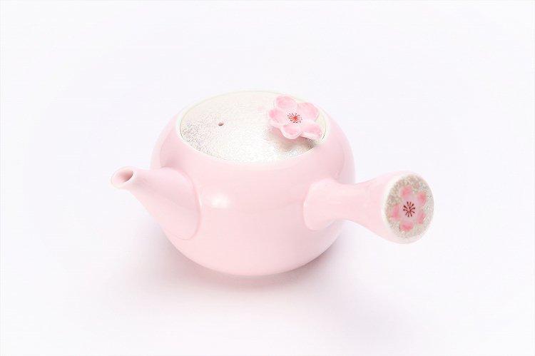 田清窯 薄ピンク釉虹彩桜 茶器セット 画像サブ15